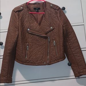 Leather jacket from h&m size 12